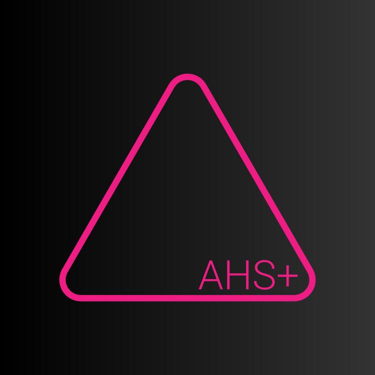 AHS Black square Pink triangle