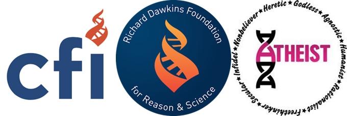 4 differnt DNA atheist symbols including CFI