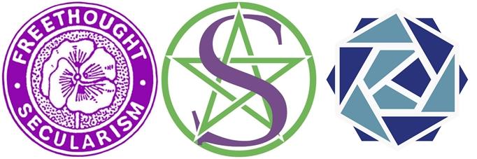 8 secularist logos